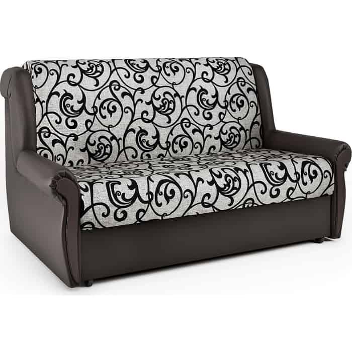 Шарм-Дизайн Диван-кровать Аккорд М 100 экокожа шоколад и узоры