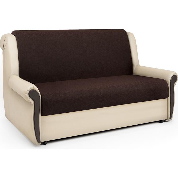 Шарм-Дизайн Диван-кровать Аккорд М 140 рогожка шоколад и экокожа беж кресло кровать шарм дизайн аккорд д рогожка шоколад и экокожа беж