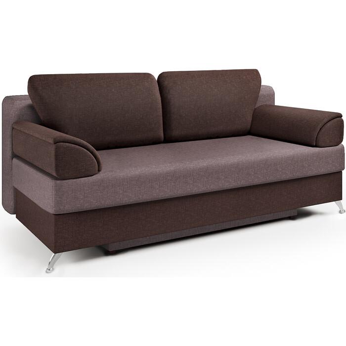 Шарм-Дизайн Диван-кровать ЕвроШарм шоколад и латте
