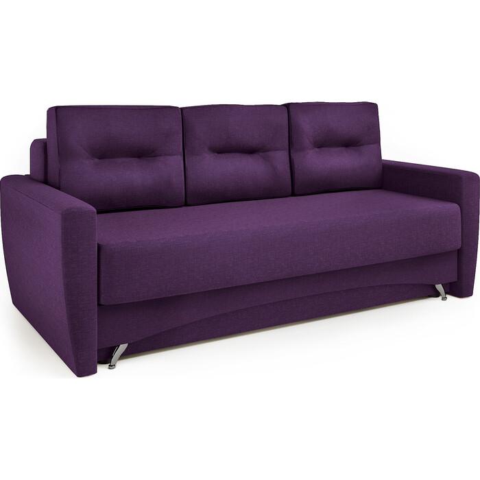 Диван-кровать Шарм-Дизайн Опера 130 рогожка фиолетовый