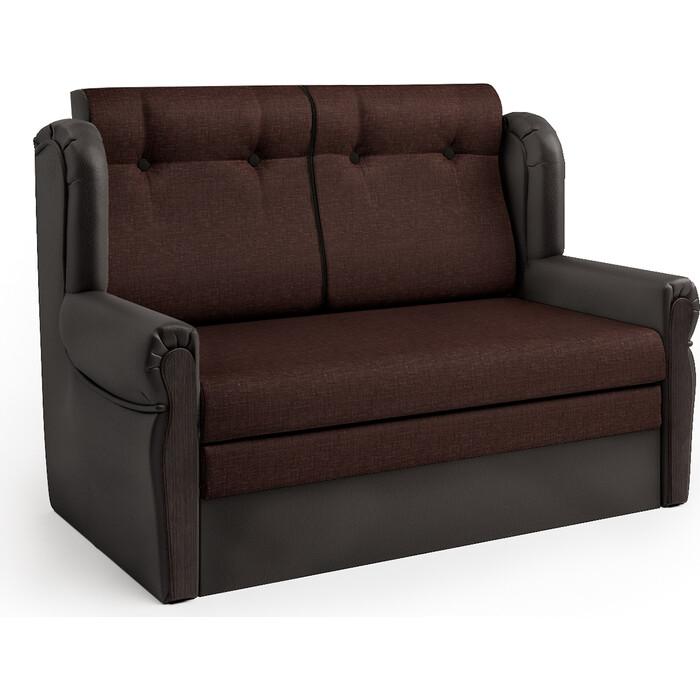 Шарм-Дизайн Диван-кровать Классика М шоколад и рогожка