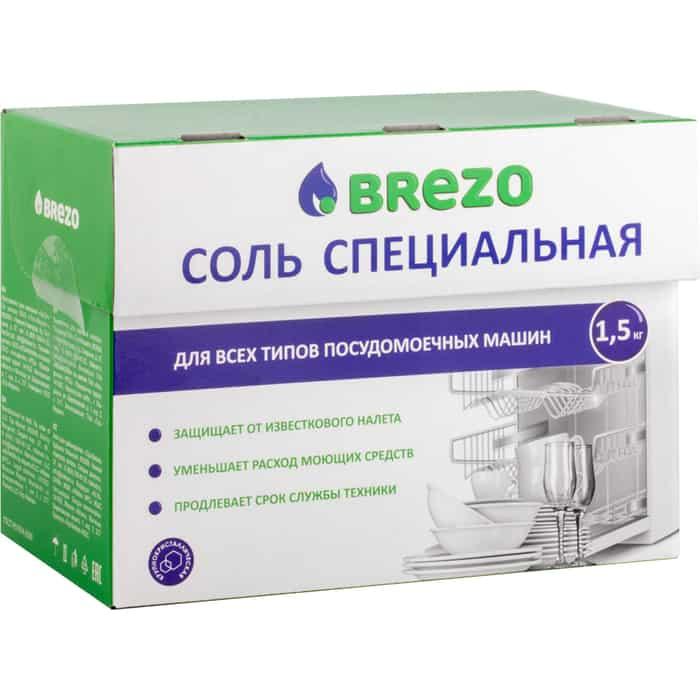 Соль для посудомоечной машины (ПММ) Brezo 1500 г (97008)