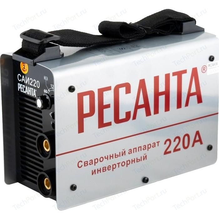 Сварочный инвертор Ресанта САИ 220 в кейсе сварочный аппарат ресанта саи 220 в кейсе