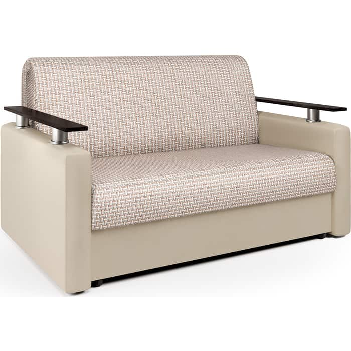 Шарм-Дизайн Диван-кровать Шарм 100 Корфу беж и экокожа