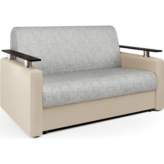 Шарм-Дизайн Диван-кровать Шарм 120 экокожа беж и серый шенилл диван аккордеон шарм 120 экокожа беж и серый шенилл