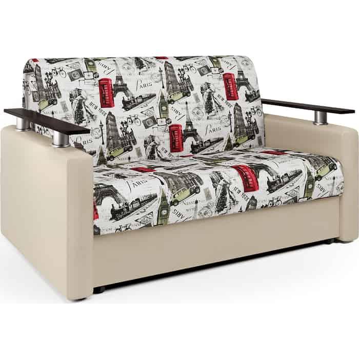Шарм-Дизайн Диван-кровать Шарм 140 велюр Париж и экокожа беж