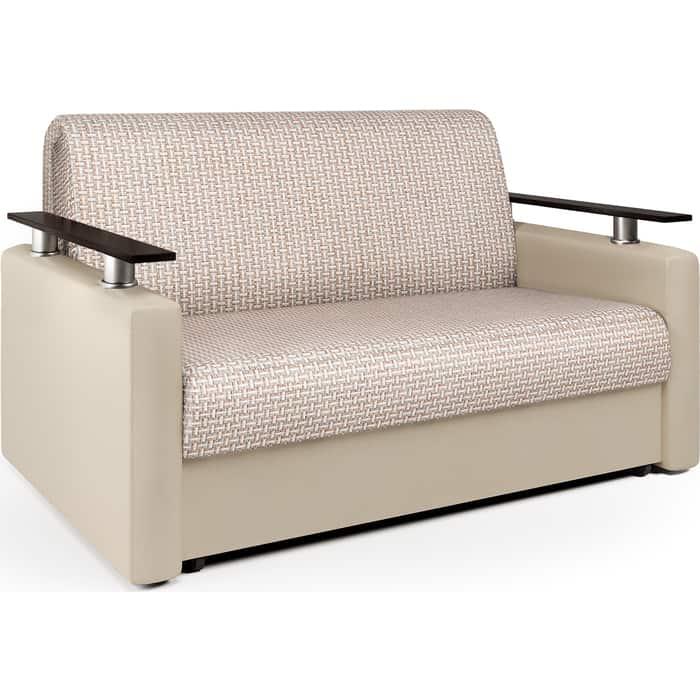 Шарм-Дизайн Диван-кровать Шарм 140 Корфу беж и экокожа