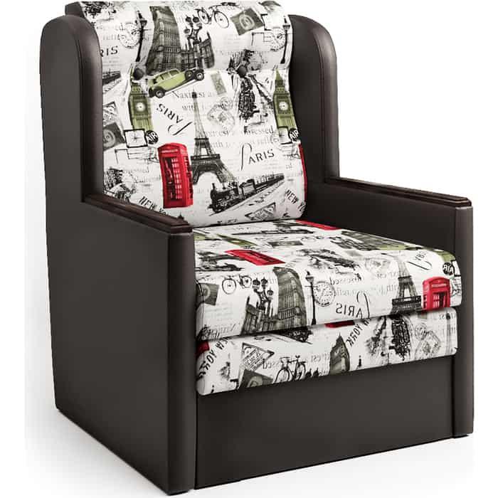 Шарм-Дизайн Кресло-кровать Классика Д шоколад и велюр