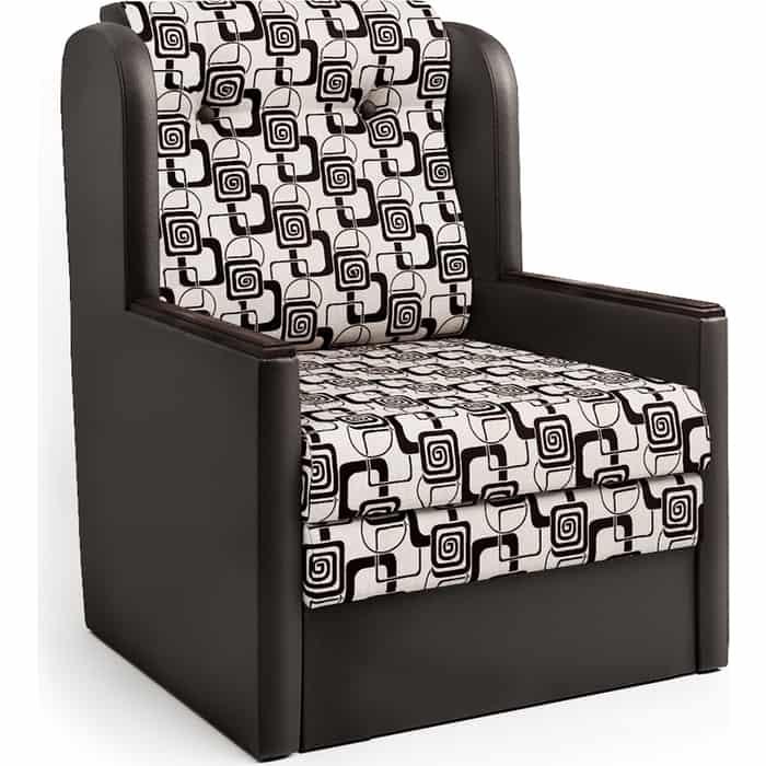 Шарм-Дизайн Кресло-кровать Классика Д шоколад и ромб