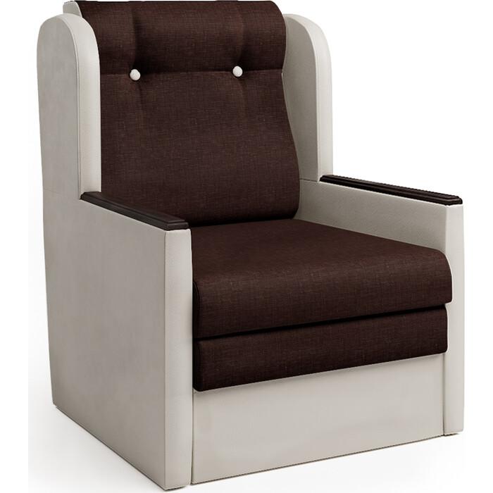 Шарм-Дизайн Кресло-кровать Классика Д экокожа беж и рогожка