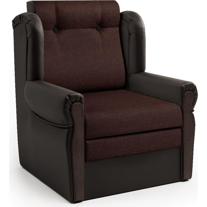 Шарм-Дизайн Кресло-кровать Классика М шоколад и рогожка