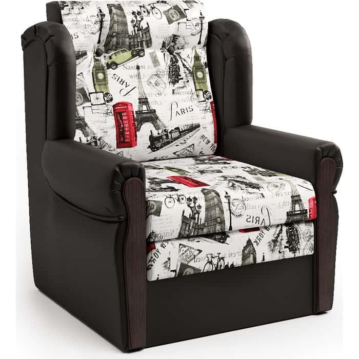 Шарм-Дизайн Кресло-кровать Классика М шоколад и велюр