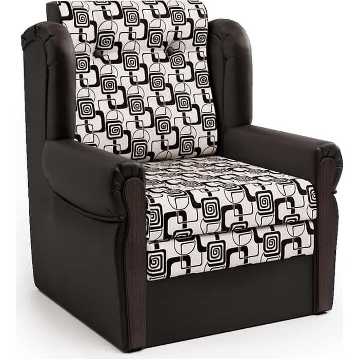 Шарм-Дизайн Кресло-кровать Классика М шоколад и ромб