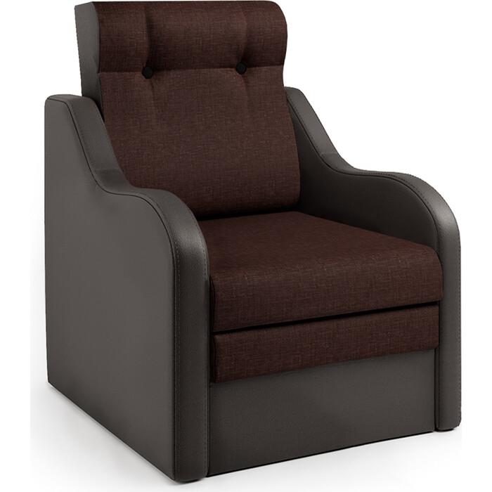 Шарм-Дизайн Кресло-кровать Классика В шоколад и рогожка