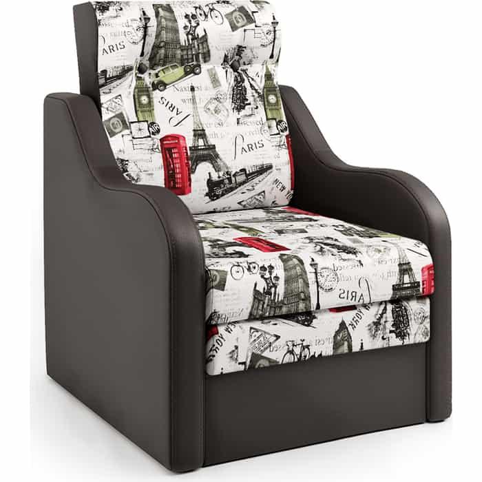Шарм-Дизайн Кресло-кровать Классика В шоколад и велюр