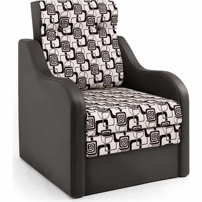Шарм-Дизайн Кресло-кровать Классика В шоколад и ромб