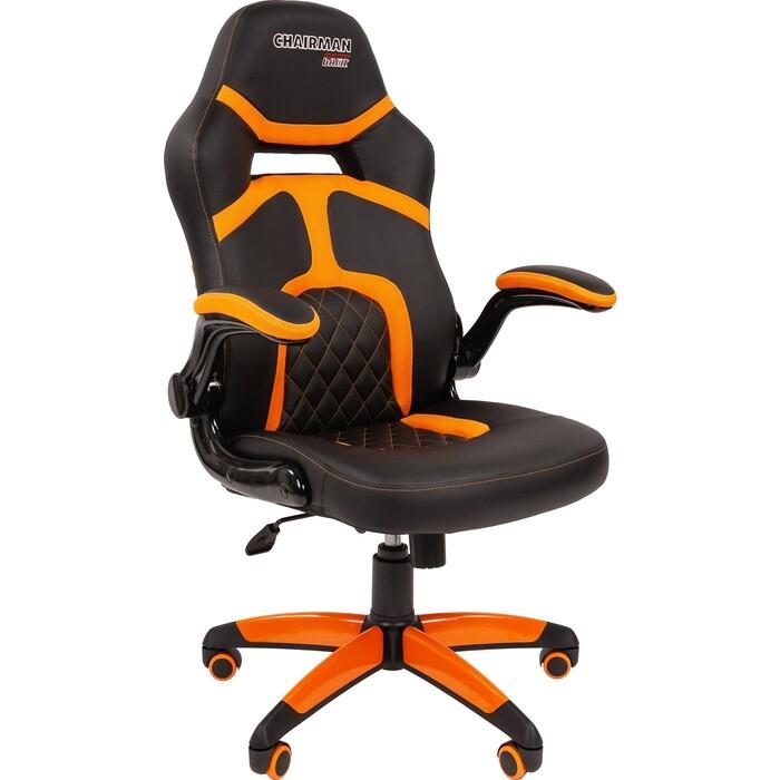 Офисное кресло Chairman Game 18 экопремиум черный/оранжевый