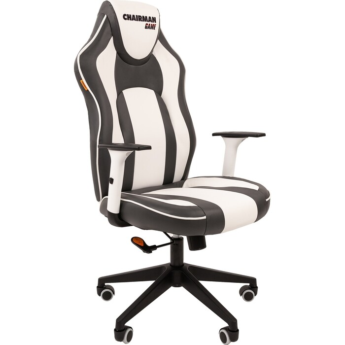 Кресло Chairman Game 23 экопремиум серый/белый