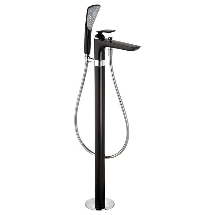Смеситель для ванны Kludi Balance напольный, FlexxBoxx 88088, черный матовый (525908775)