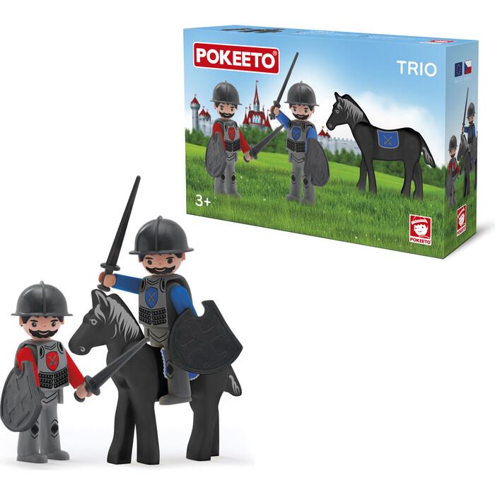 Фигурки EFKO Два рыцаря и конь 3 фигурки 8 см с аксессуарами, (36215EF-CH)