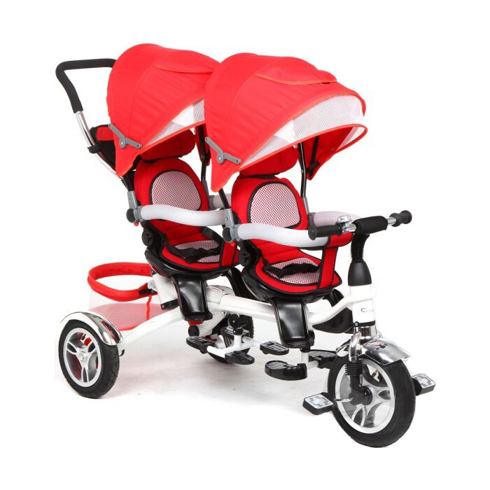 Велосипед Capella 3-кол. для двойни, (1 шт/к), мод. TWIN TRIKE 360, RED, (GL000264474)