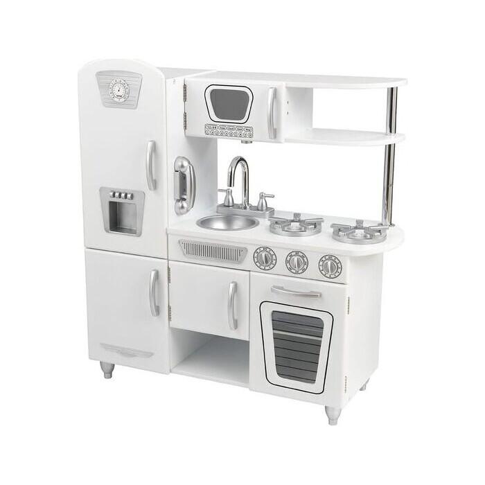 Детская Игрушечная кухня KidKraft из дерева Винтаж, цвет Белый (White Vintage Kitchen), (53208_KE)