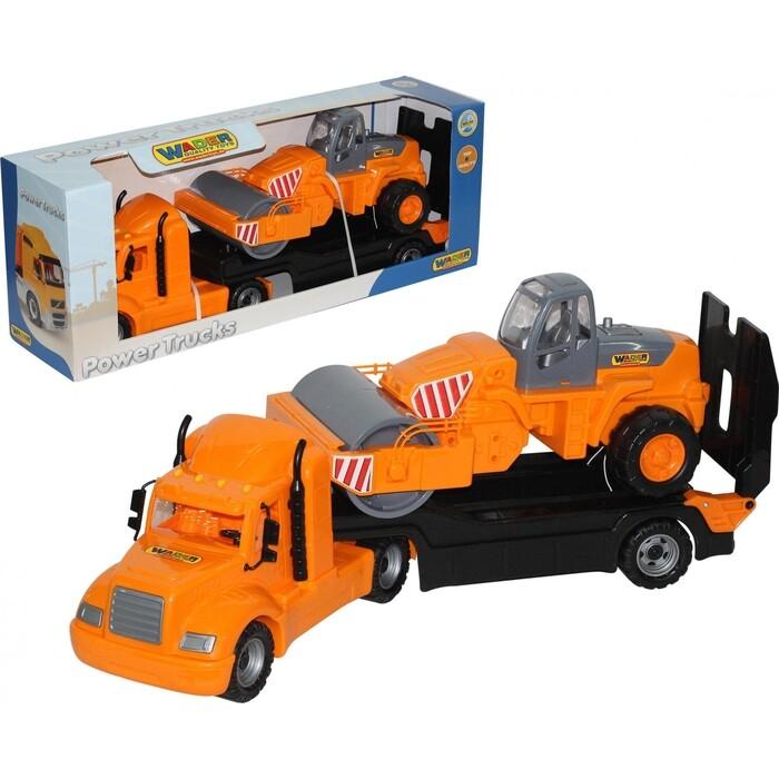 Набор Полесье Майк, автомобиль-трейлер + дорожный каток (в коробке), (55712_PLS)