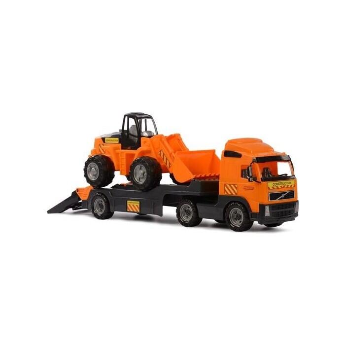 Набор Полесье Volvo, автомобиль-трейлер + трактор-погрузчик (в коробке), (9616_PLS)