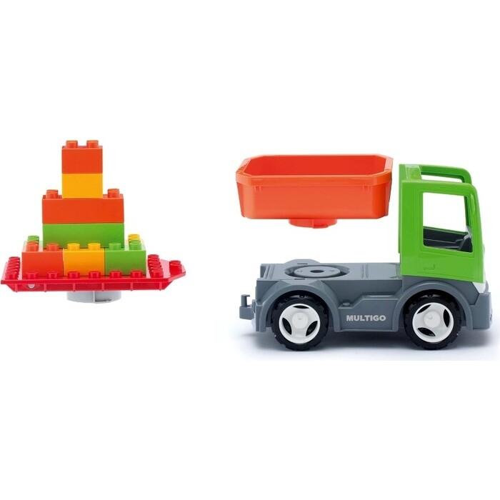 Грузовик EFKO со строительной платформой и сменным кузовом игрушка 22 см, (37054EF-CH)