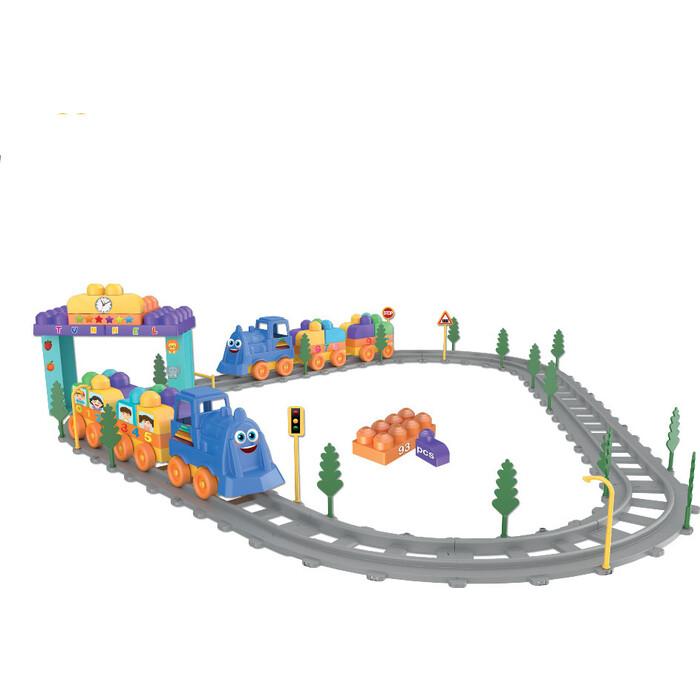 Конструктор Terides Волшебные детали Поезд 93 предмета, (Т6-074)