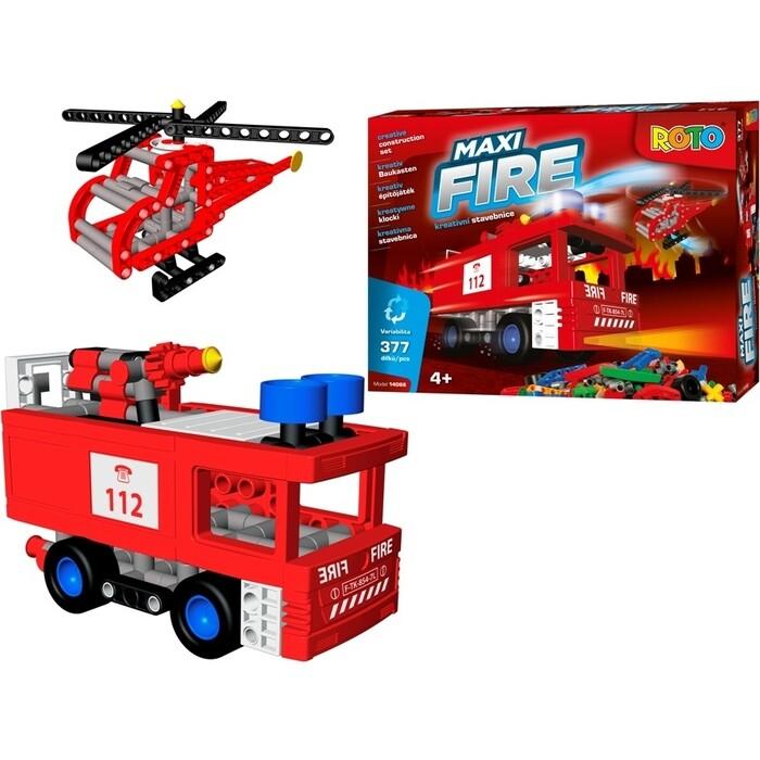 Игрушка Конструктор EFKO РОТО Пожарная техника 377 деталей, (14066EF-CH)