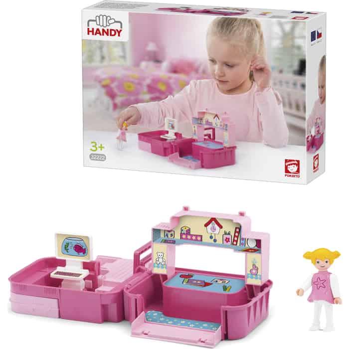 Игровой Набор EFKO детская комната с фигуркой девочкой в чемоданчике, (32222EF-CH)