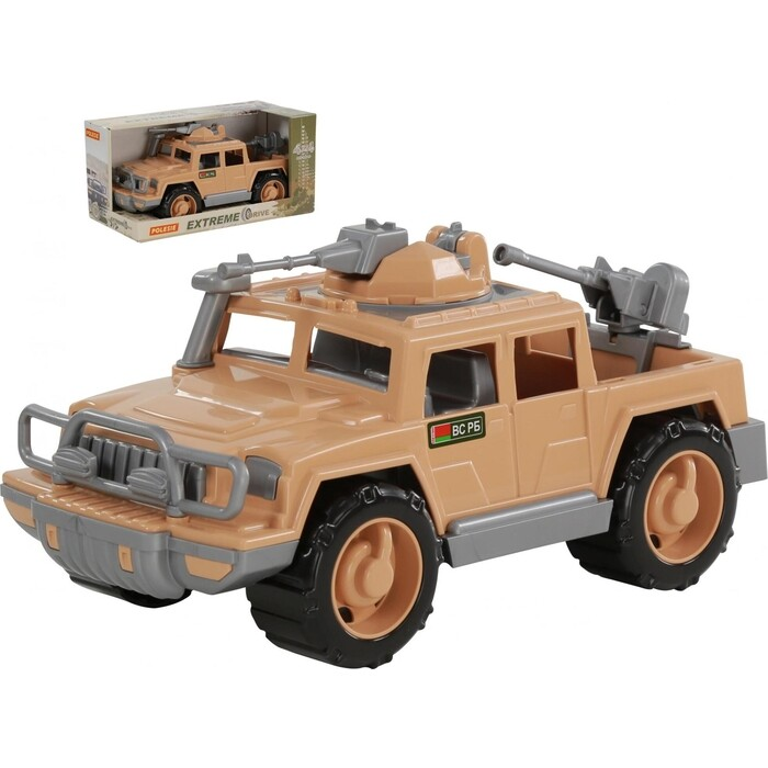 Автомобиль-пикап Полесье военный Защитник-Сафари с 2-мя пулемётами (в коробке), (68996_PLS)