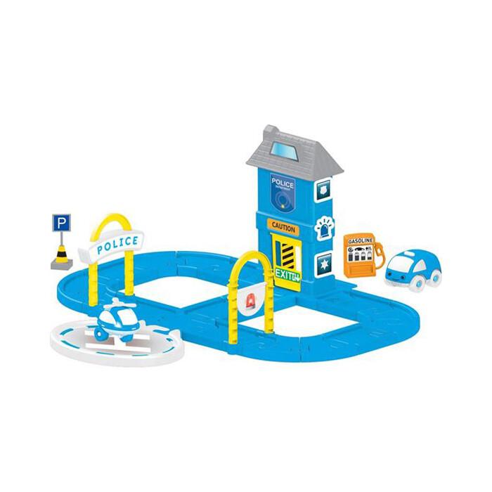 Игровой Набор Dolu полицейская станция с круговой дорогой, (DL_5151)