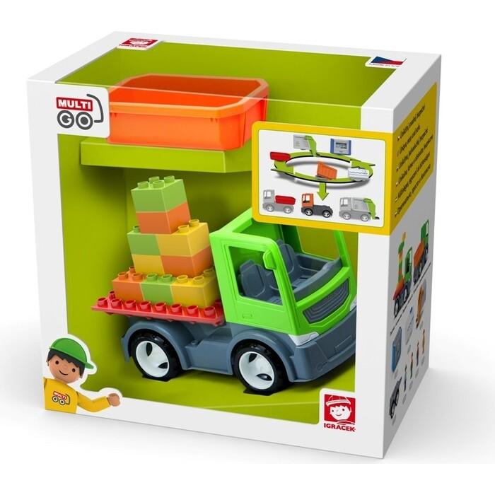 Грузовик со строительной платформой и сменным кузовом EFKO игрушка 22 см, (37014EF-CH)