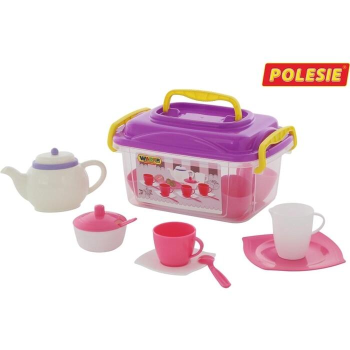 Набор Wader детской посуды Алиса на 4 персоны (19 элементов) (в контейнере), (58980_PLS)