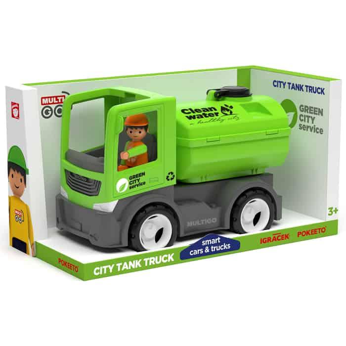 Городской грузовик с цистерной и водителем EFKO игрушка 22 см, (27285EF-CH)