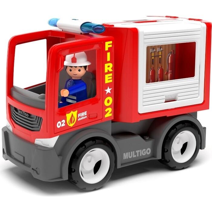 Пожарная машина для команды с водителем EFKO игрушка 22 см, (27281EF-CH)