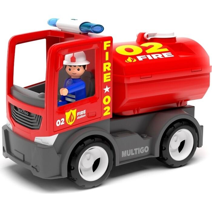 Пожарная машина с цистерной и водителем EFKO игрушка 22 см, (27282EF-CH)
