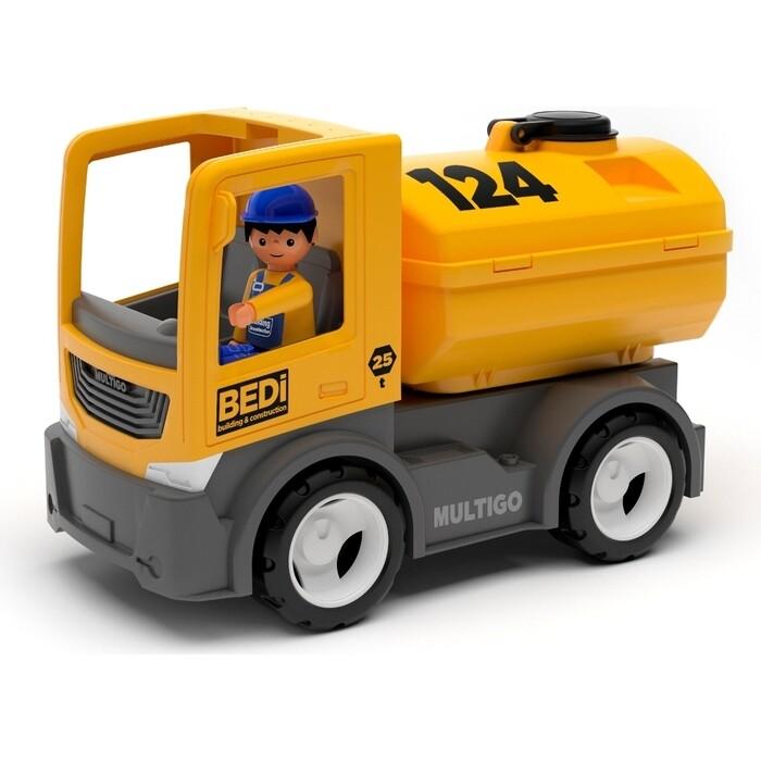 Строительный грузовик-цистерна с водителем EFKO игрушка 22 см, (27272EF-CH)