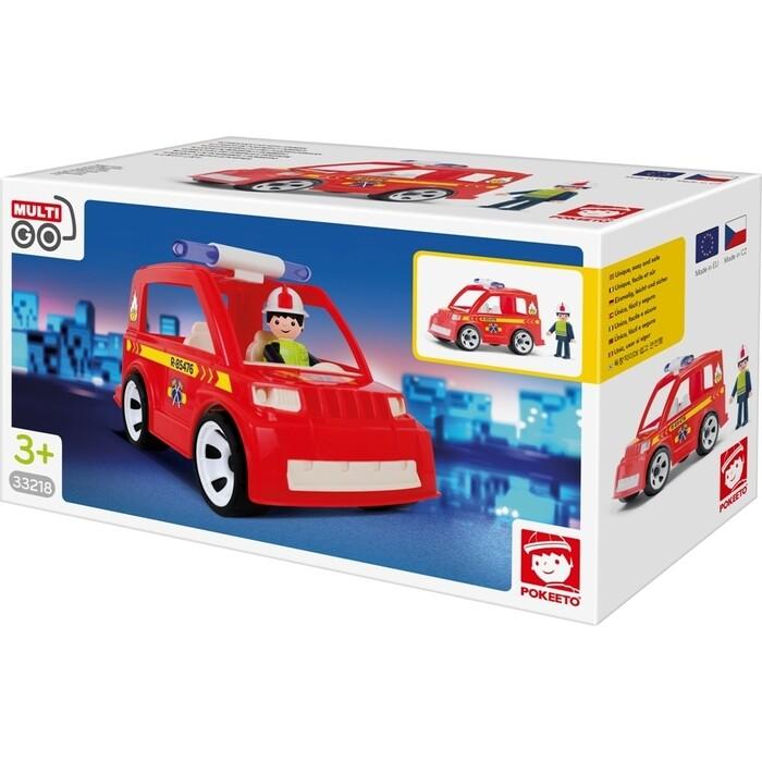 Пожарный автомобиль с водителем EFKO игрушка 17 см, (33218EF-CH)