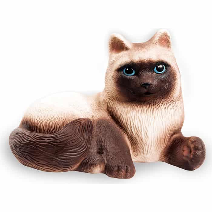 Резиновая игрушка Огонек Кошка Сиамка 15 см, (С-631)