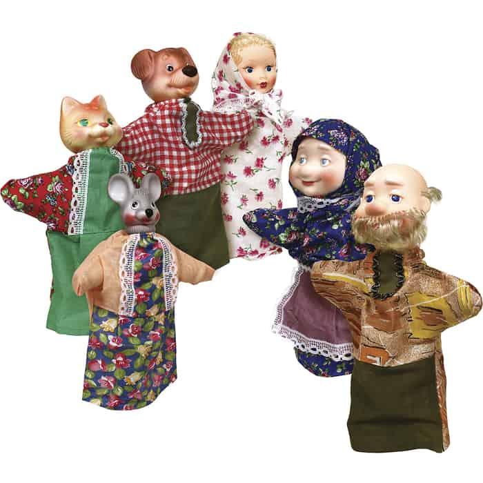 Кукольный театр Огонек Репка 7 персонажей, (С-1344)