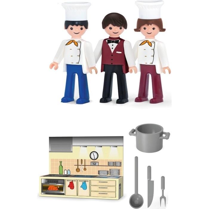Фигурки с аксессуарами EFKO Ресторан 3 фигурки 8 см, (36213EF-CH)