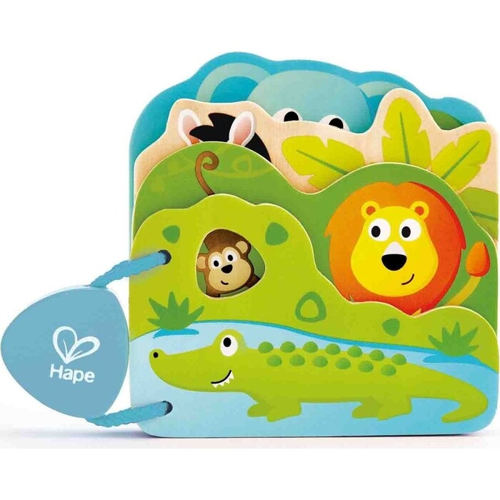 Игрушка - Детская книга Hape Дикие животные, (E0047_HP)