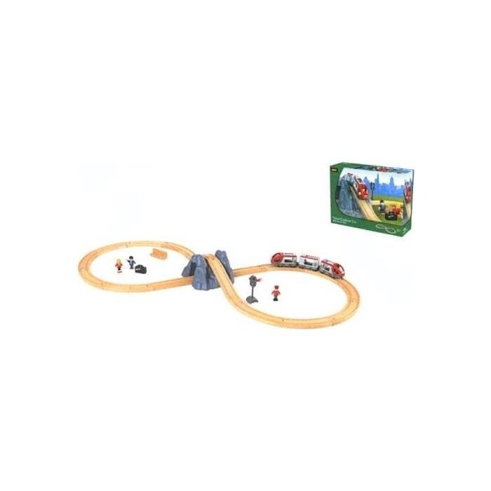 Набор Brio Ж/Д с поездом, туннель в горе, 26 элементов, (33106)