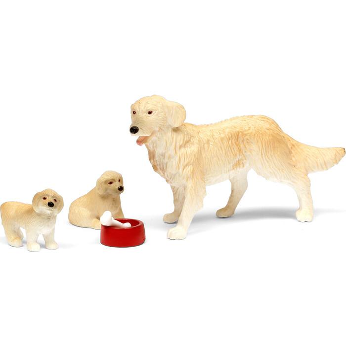 Набор животных Lundby Пес семьи со щенками, (LB_60807400)