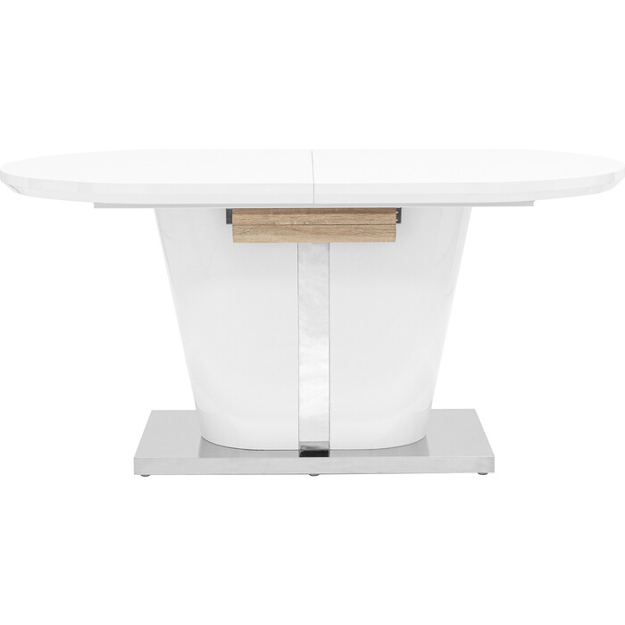 Стол обеденный Stool Group Мулен раскладной глянцевый белый DT-44-160-HGW DUAL