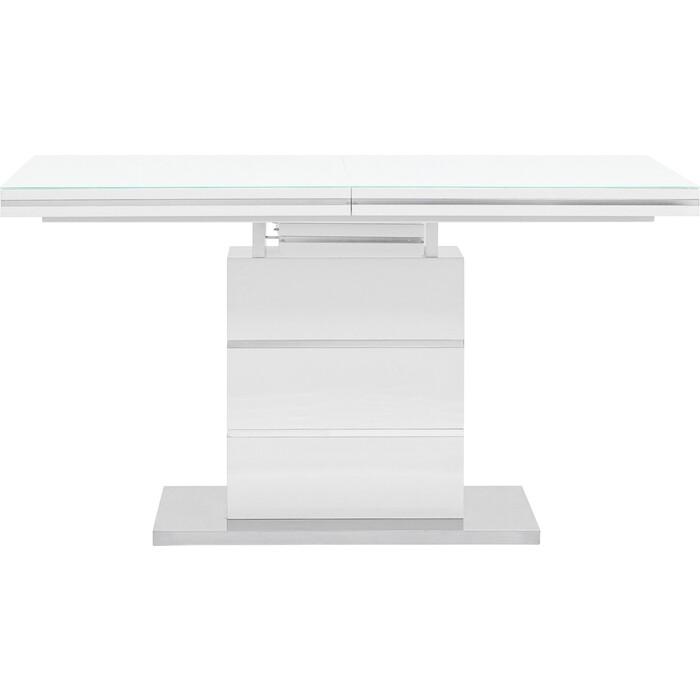 Стол обеденный Stool Group Глазго раскладной глянцевый белый N-115-140-HGW DUAL