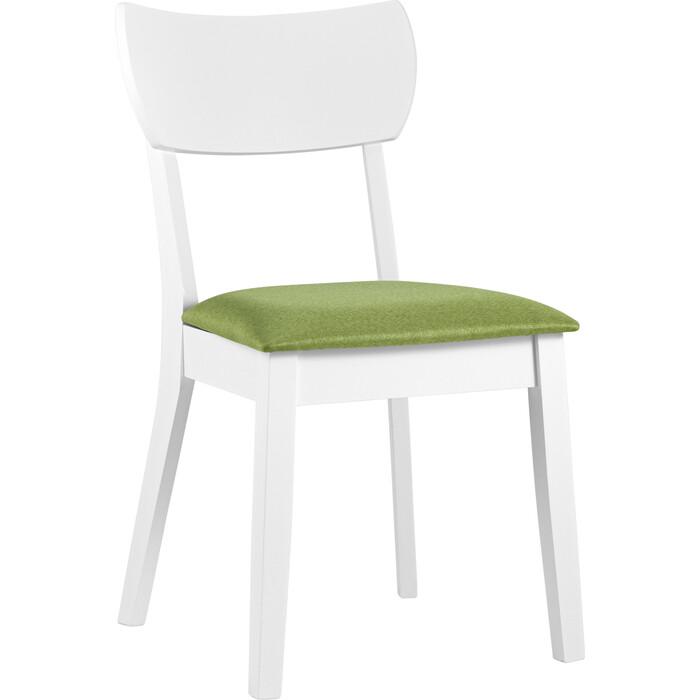 Стул обеденный Stool Group Tomas white белый мягкое сидение салатовое MH51755 APPLE-8 green